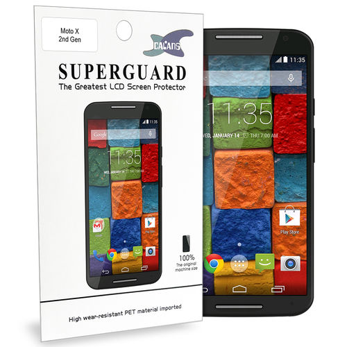 Calans 2-Pack Clear Film Screen Protector for Motorola Moto X 2nd Gen