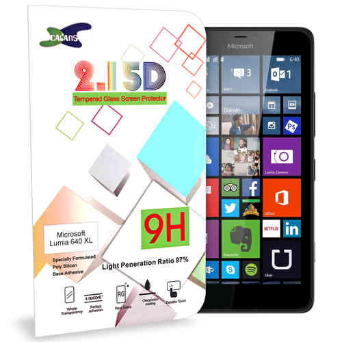 Calans 9H Tempered Glass Screen Protector for Microsoft Lumia 640 XL