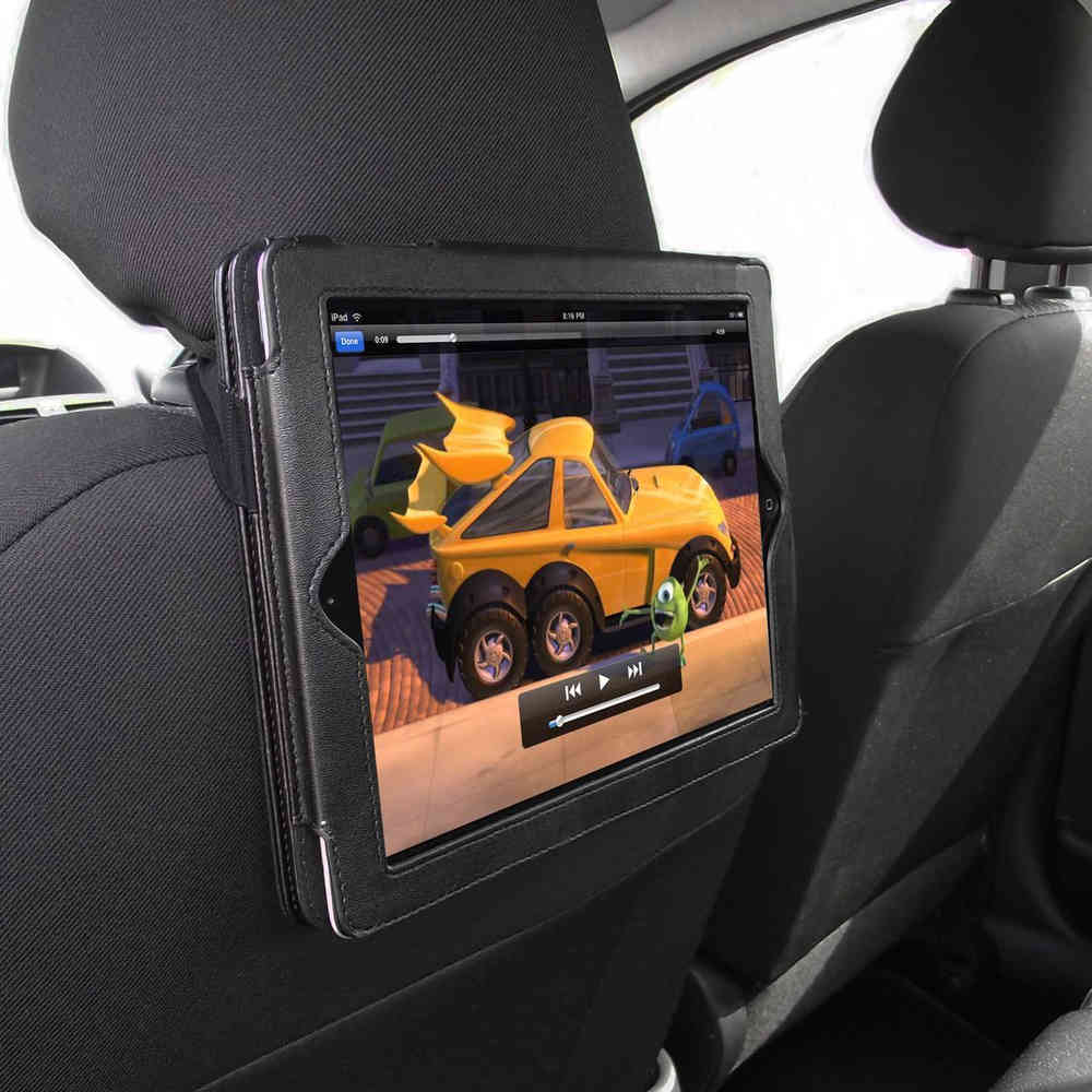 save off 53152 f4a21 Orzly Car Headrest Mount Strap Leather Case - Apple iPad 3 / 4