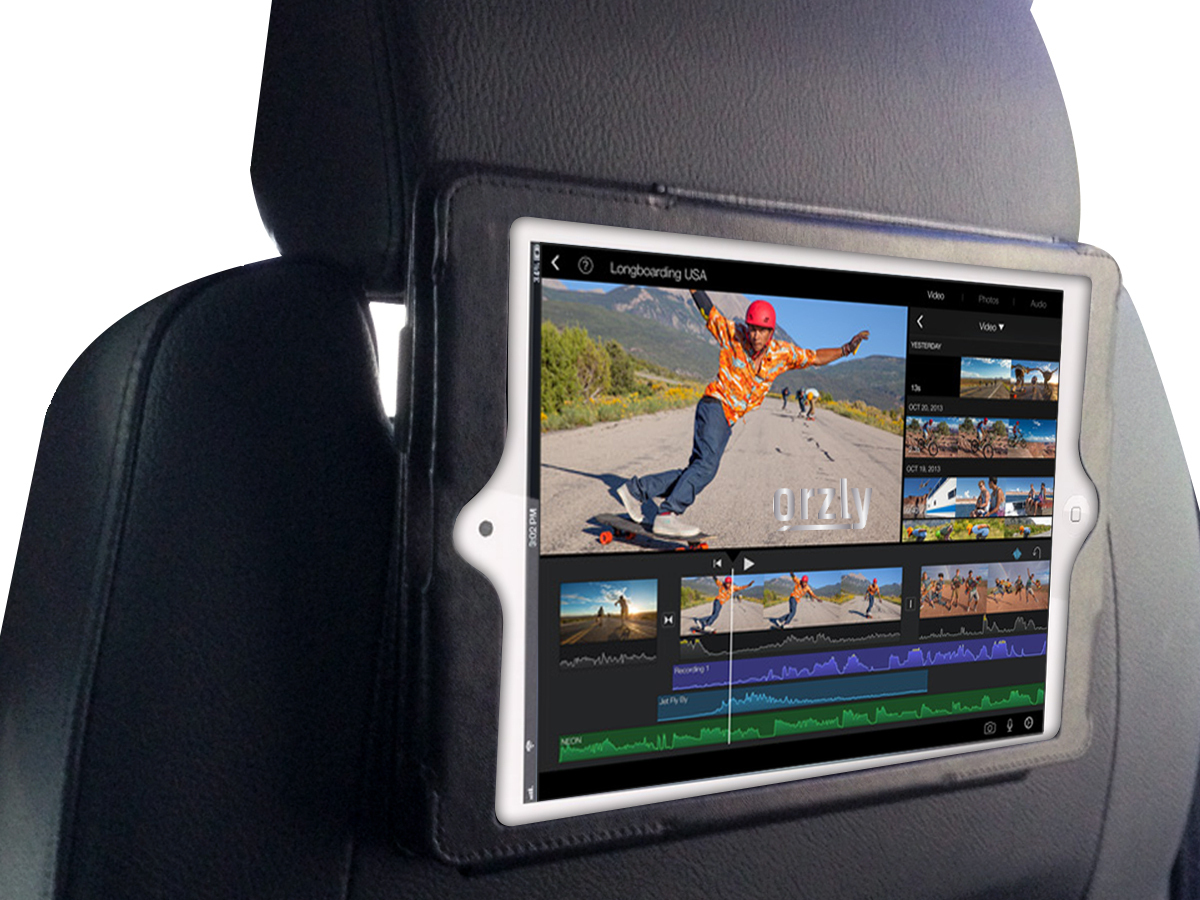Orzly Car Headrest Mount Case For Ipad Mini 3 Black