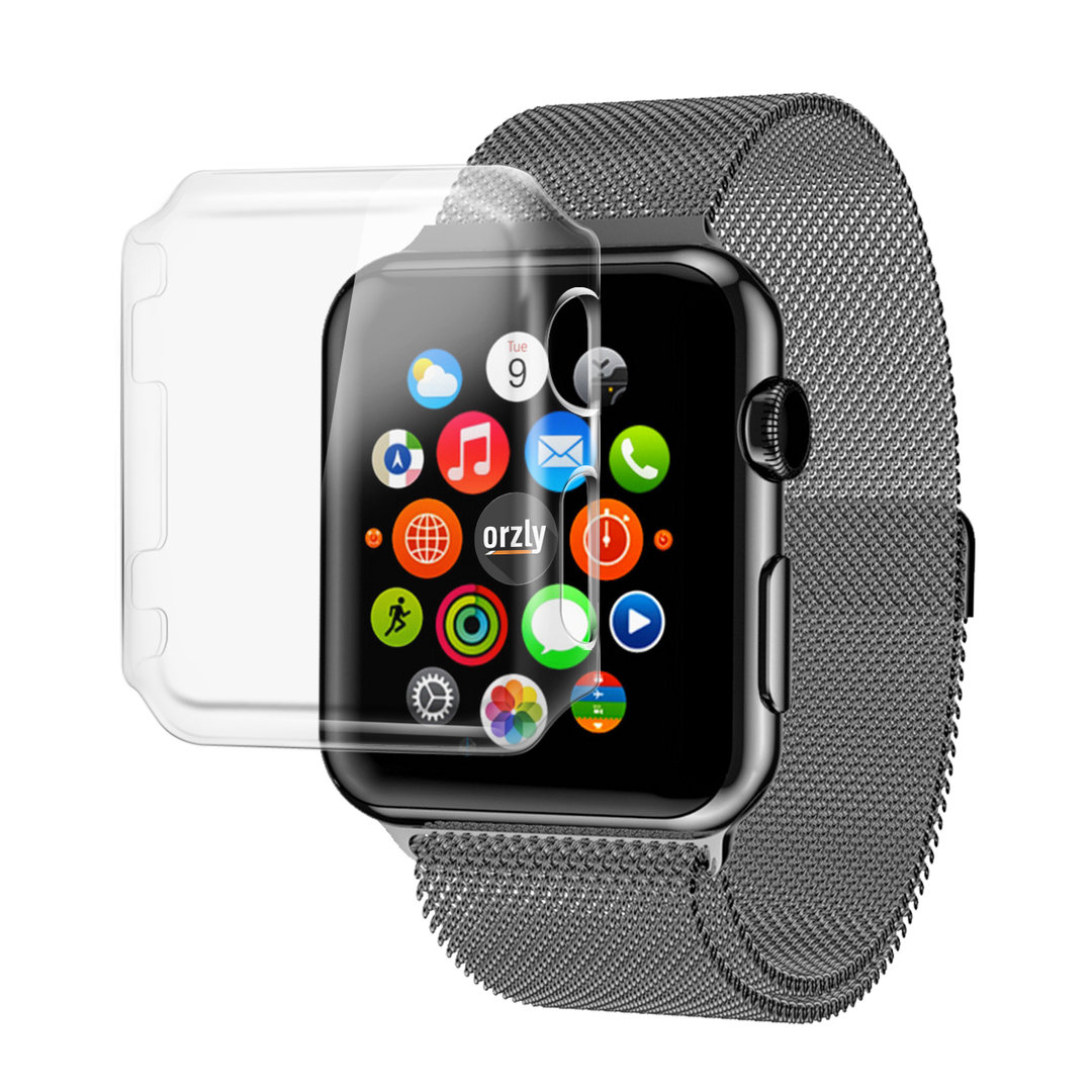orzly invisi screen guard hard case apple watch 42mm. Black Bedroom Furniture Sets. Home Design Ideas