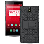 Dual Layer Rugged Tough Shockproof Case for OnePlus One - Black