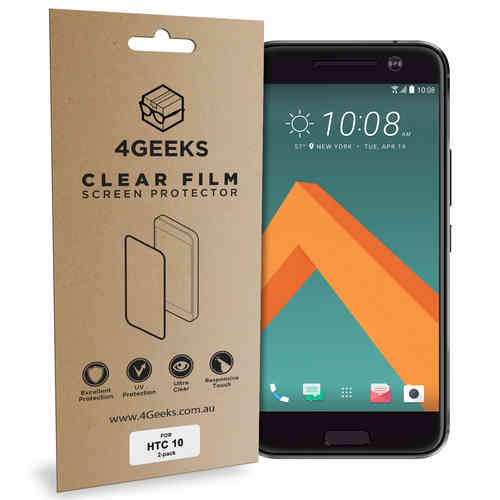 4Geeks (2-Pack) Clear Film Screen Protector Guard for HTC 10