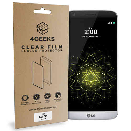 4Geeks (2-Pack) Clear Film Screen Protector Guard for LG G5