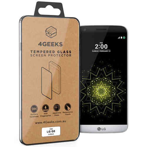 4Geeks 9H Tempered Glass Screen Protector for LG G5 - Clear