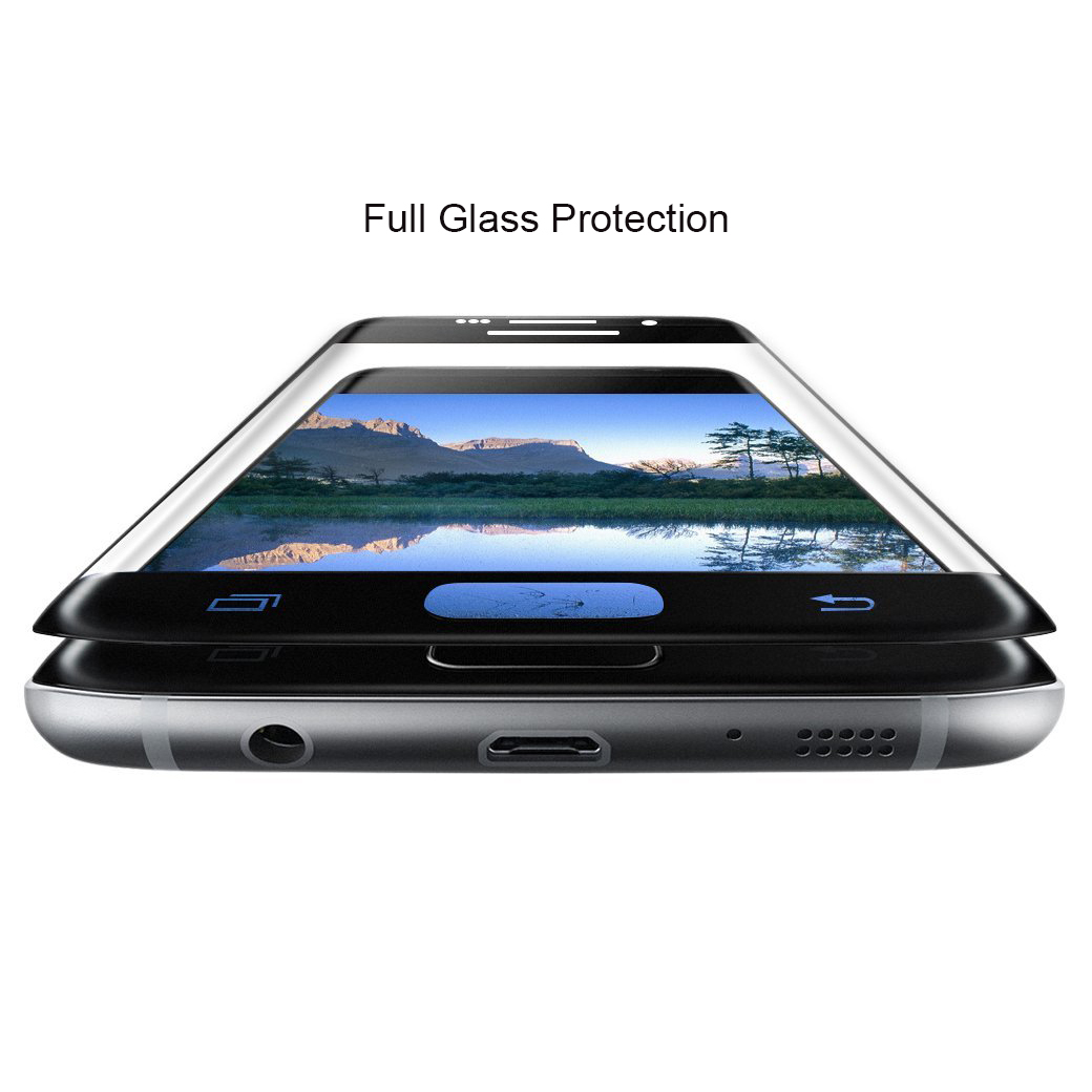Black Curved Tempered Glass Screen Protector - Samsung Galaxy S7