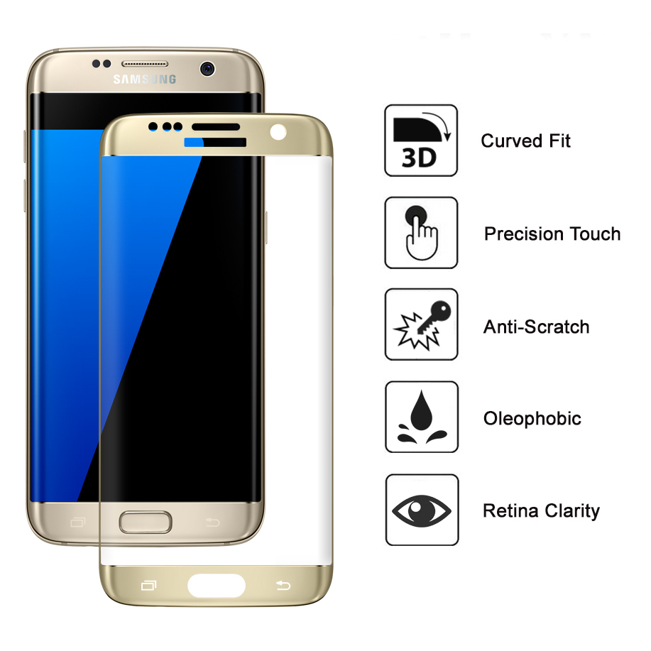 gold 3d tempered glass screen protector samsung galaxy. Black Bedroom Furniture Sets. Home Design Ideas