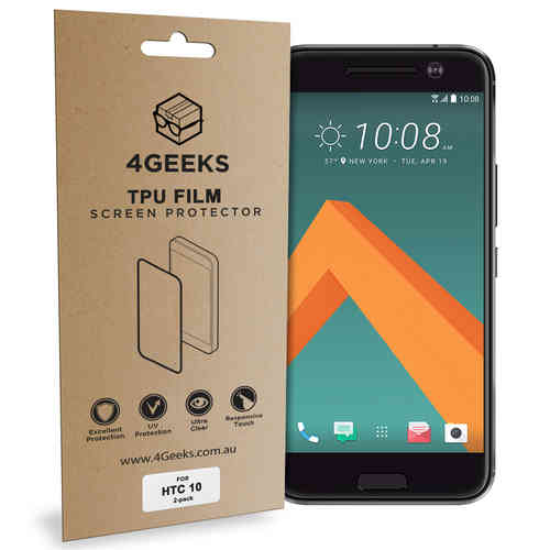 4Geeks (2-Pack) Full Coverage Curved TPU Screen Protector for HTC 10