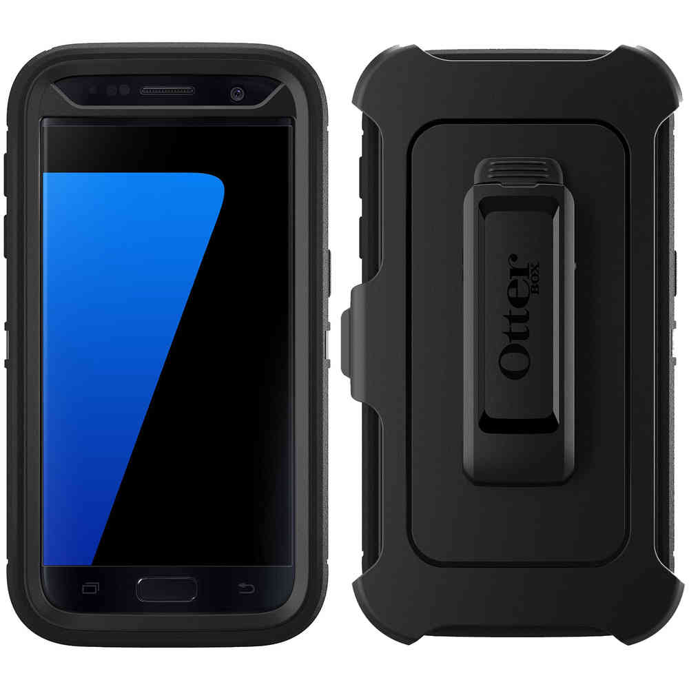 new concept d36a9 c60a1 Otterbox Defender Case for Samsung Galaxy S7 (Black)