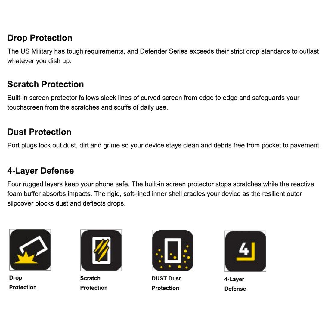 Otterbox Defender Case - Samsung Galaxy S7 Edge (Black)