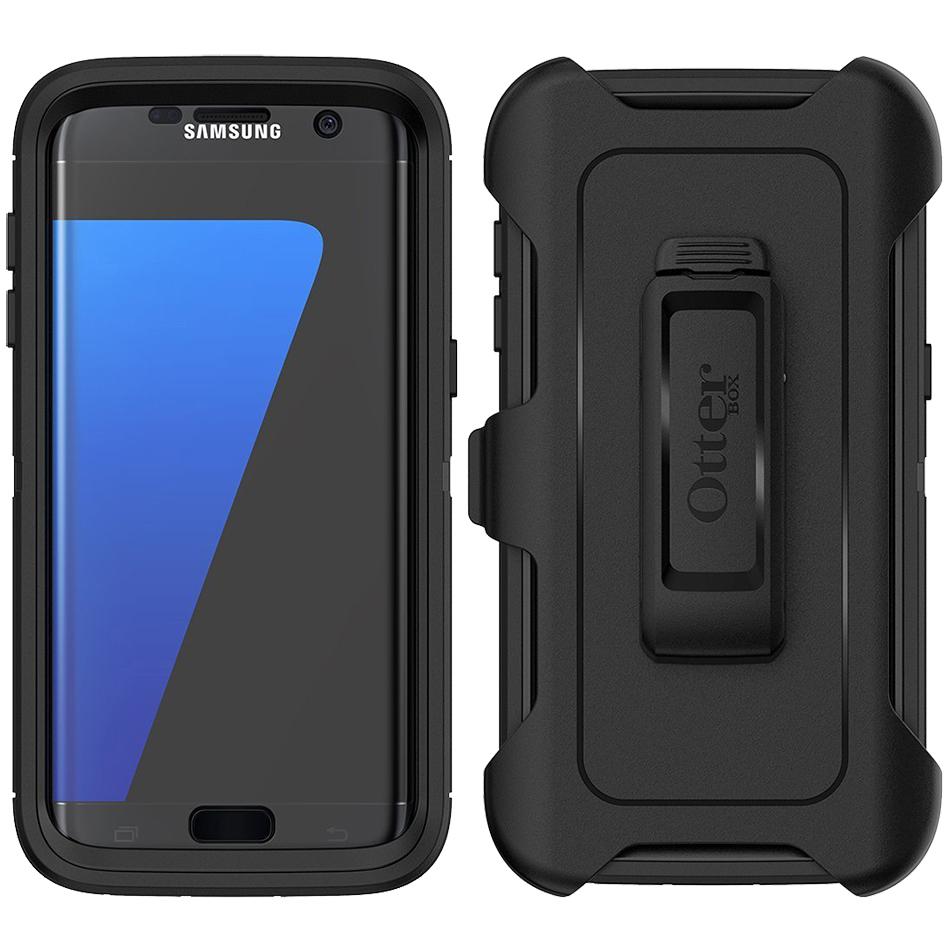 best website 4c572 b5cd2 Otterbox Defender Case - Samsung Galaxy S7 Edge (Black)
