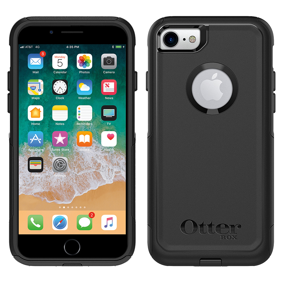 hot sales 39f77 5fc55 OtterBox Commuter Case for Apple iPhone 8 / 7 (Black)