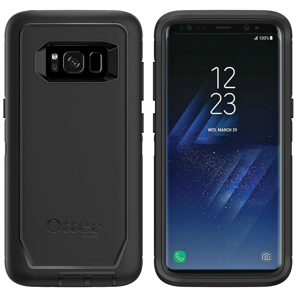 sports shoes ff470 6511a OtterBox Defender Case - Samsung Galaxy S8+ (Black)