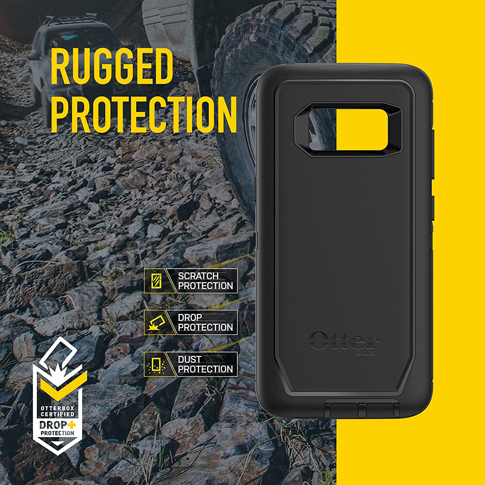sports shoes 9f763 f9068 OtterBox Defender Case - Samsung Galaxy S8+ (Black)
