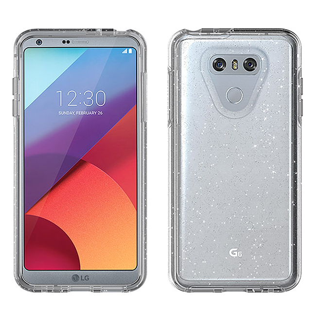 newest 1390e 3303a Otterbox Symmetry Case for LG G6 (Stardust Glitter)