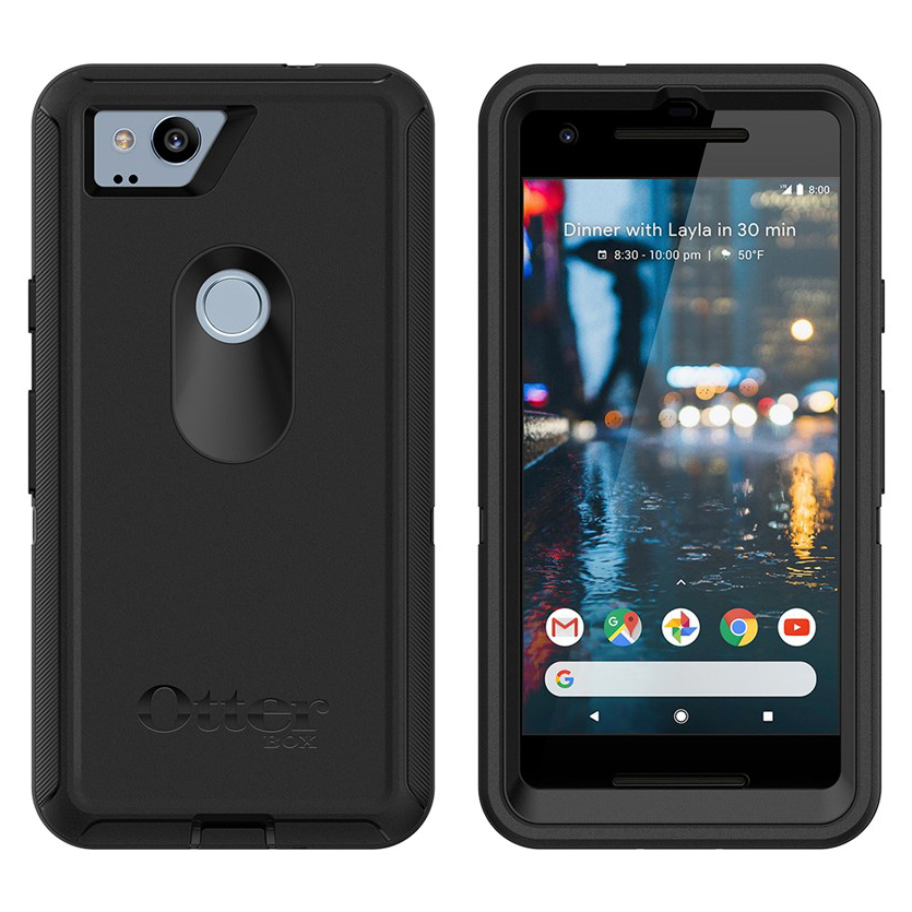 quality design 73261 f440e OtterBox Defender Case - Google Pixel 2 (Black)
