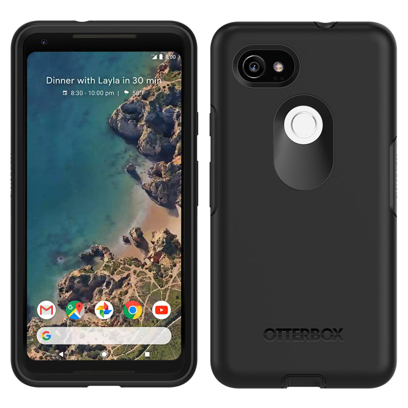low priced 7cc84 d8219 OtterBox Symmetry Case for Google Pixel 2 XL (Black)