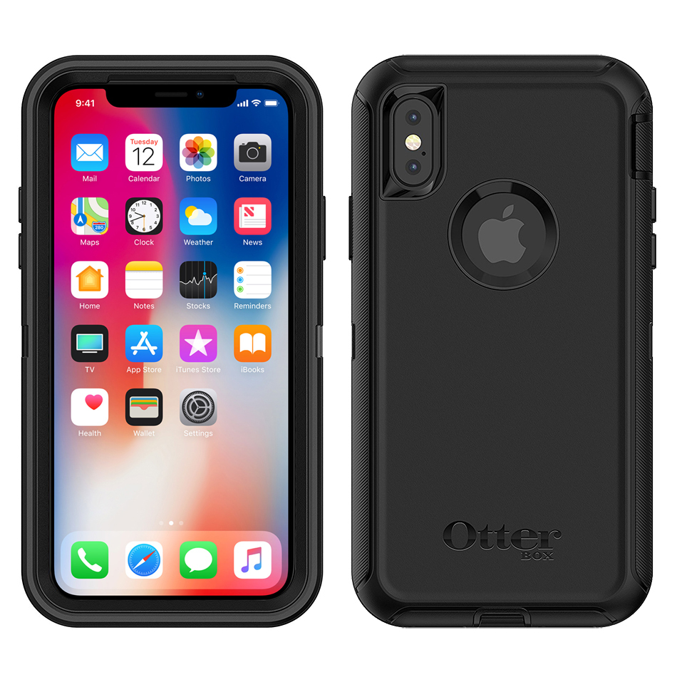 OtterBox Defender Shockproof Case for Apple iPhone X   Xs - Black ... 9829cf3582bc