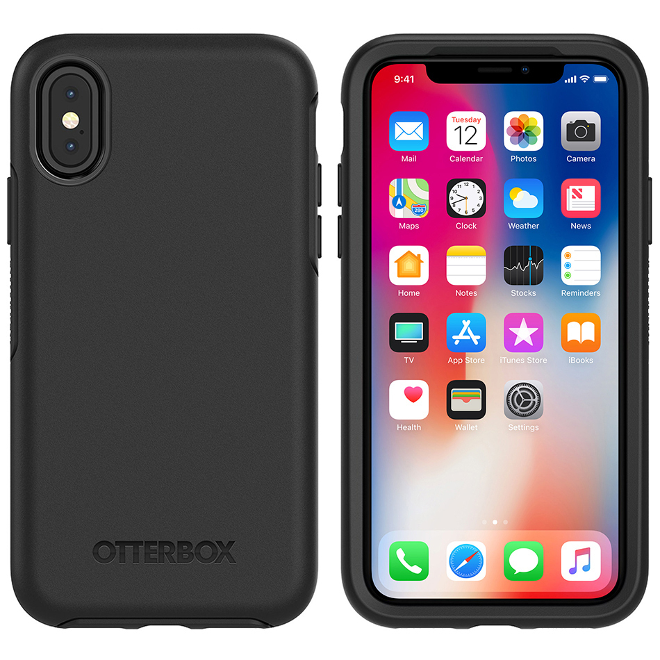 designer fashion b87f5 d1c2e OtterBox Symmetry Case for Apple iPhone Xs (Black)