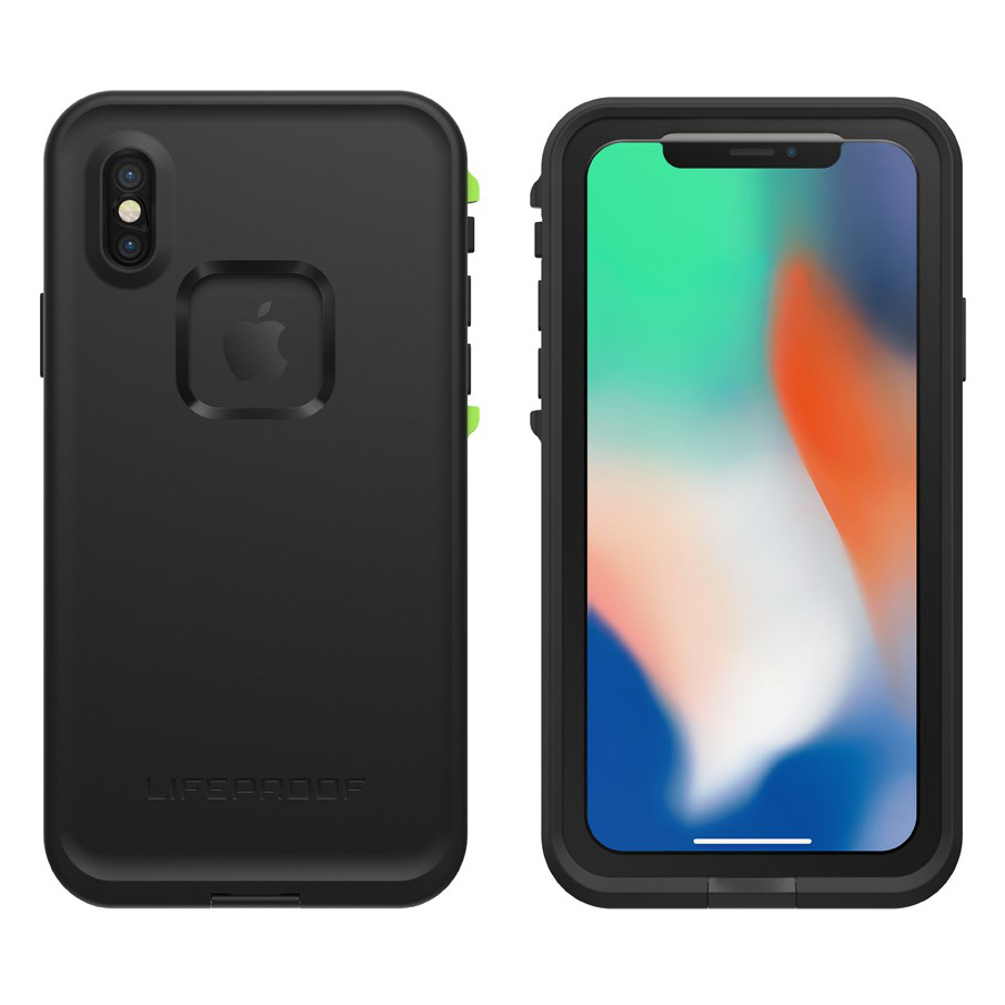 ... LifeProof Fre Waterproof Case for Apple iPhone X - Black   Lime ... a02a2e1bd38d