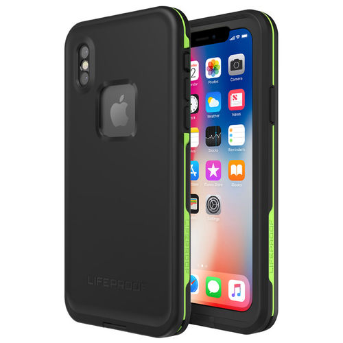 LifeProof Fre Waterproof Case for Apple iPhone X - Black / Lime
