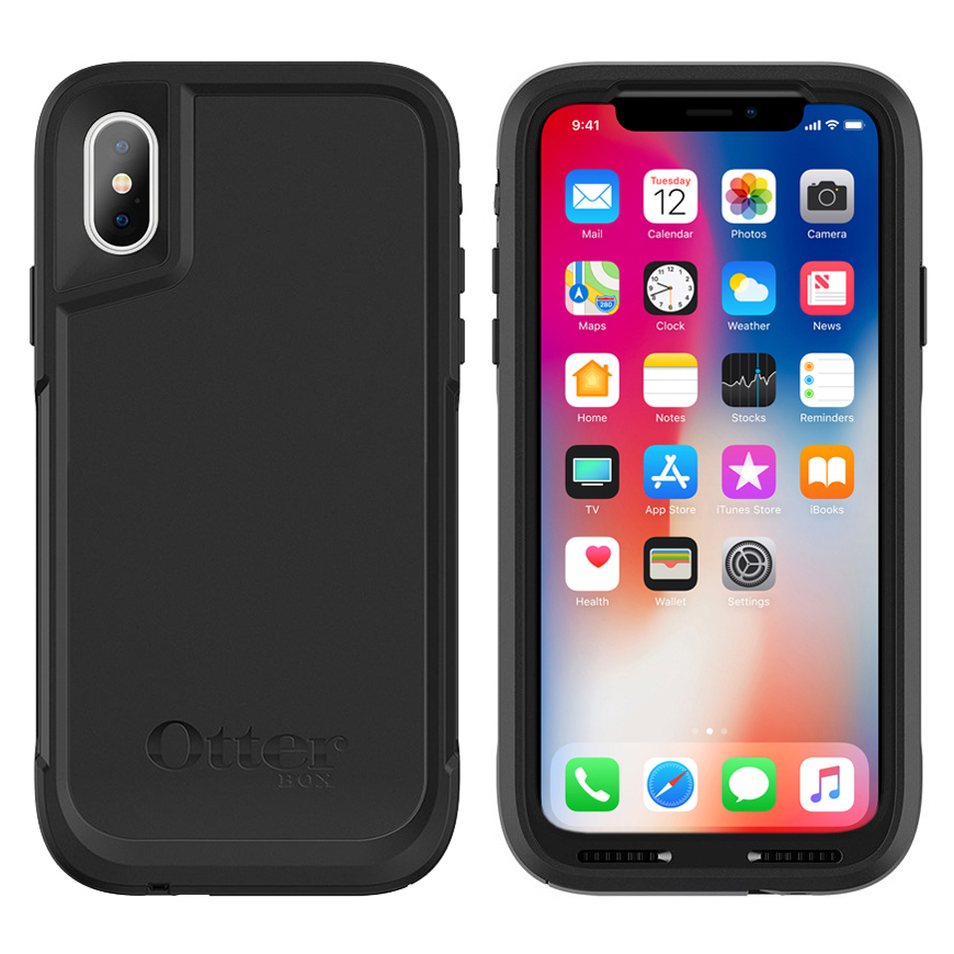 best service a3bb9 6806c OtterBox Pursuit Case for Apple iPhone Xs (Black)