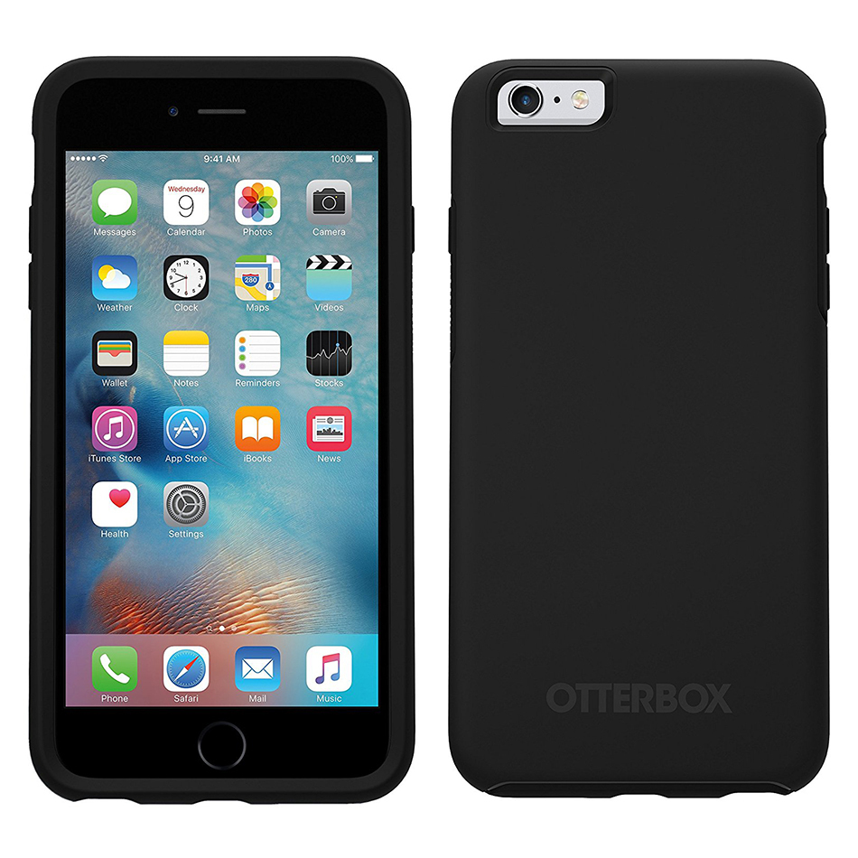 otterbox symmetry case apple iphone 6s plus black. Black Bedroom Furniture Sets. Home Design Ideas