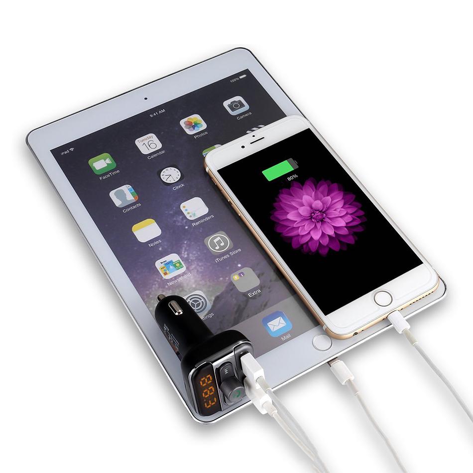 Car Bluetooth FM Transmitter / USB Charger / SD Card Reader