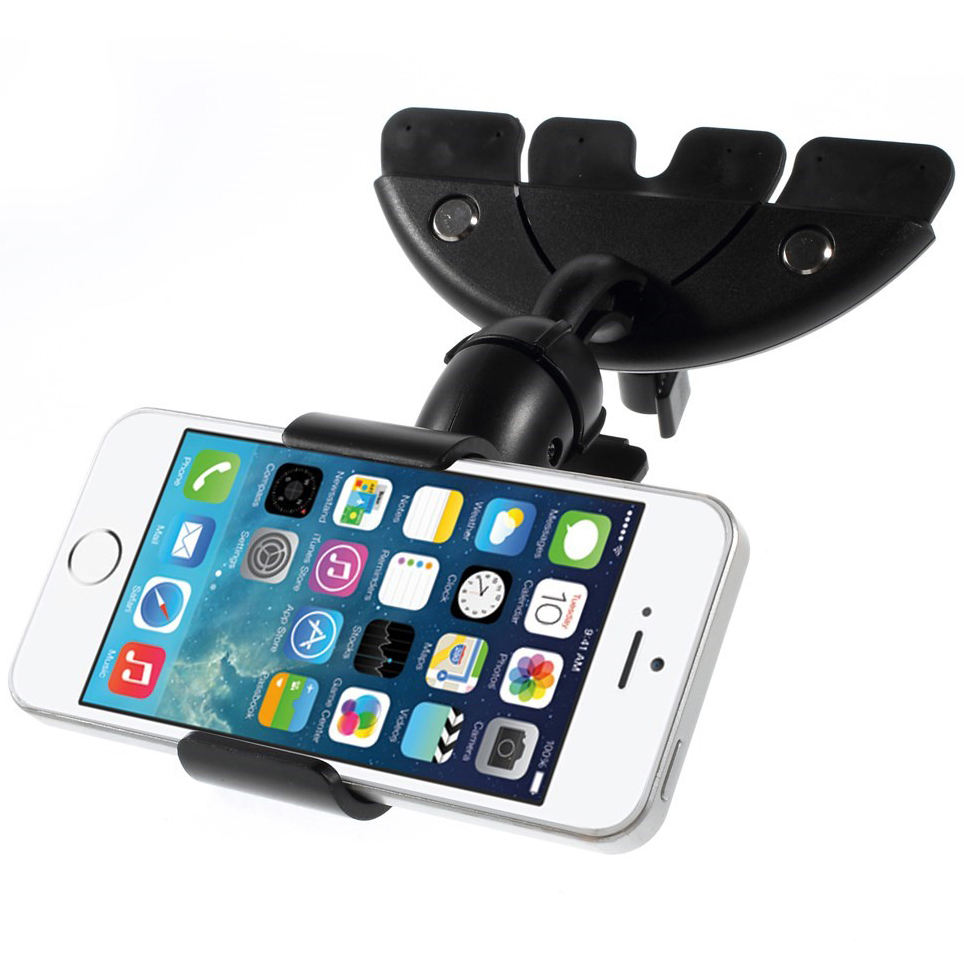 Universal CD Slot Car Mount Holder & Mobile Phone Cradle Clamp
