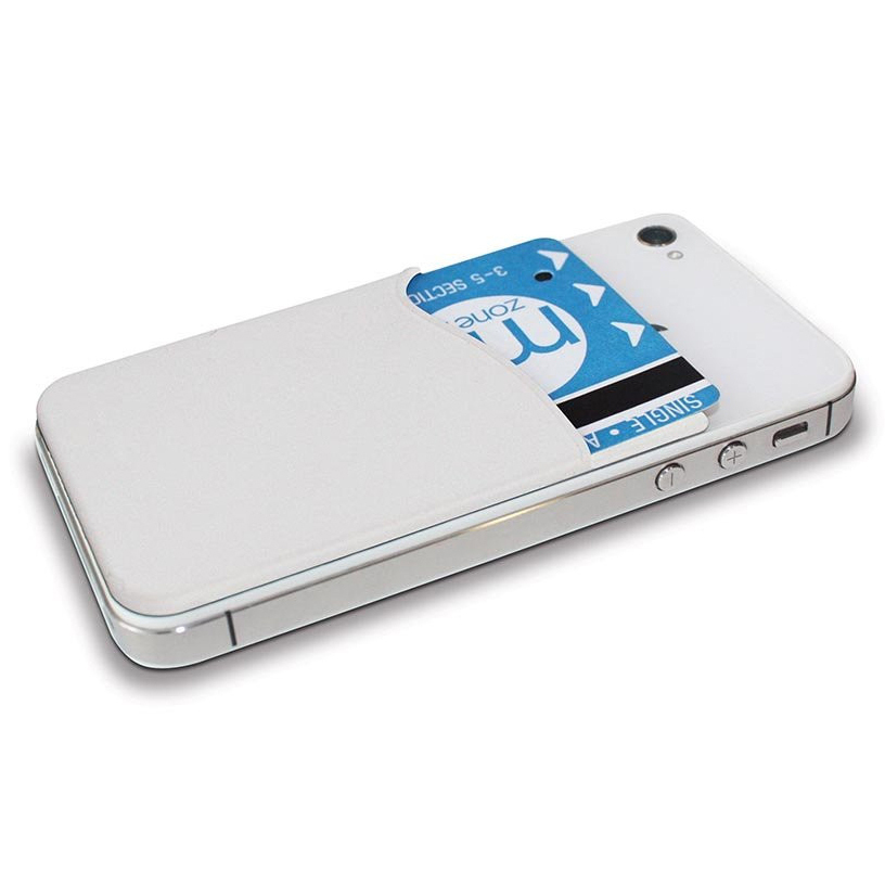 the latest 6dbb2 b5ddc Silicone Smart Wallet & Card Holder for Mobile Phones - White