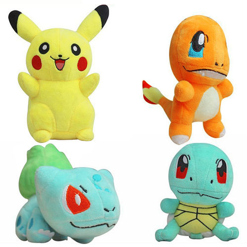 Pokemon Go Plush Toys Doll Set - Pikachu Bulbasaur Squirtle Charmander