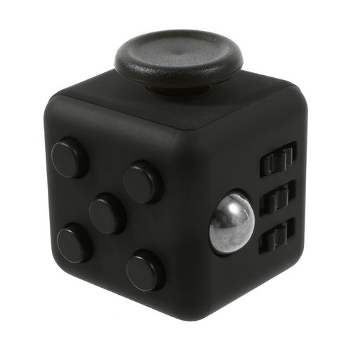 Fidget Cube - Anti-Stress & Anxiety Reliever Play Toy - Black