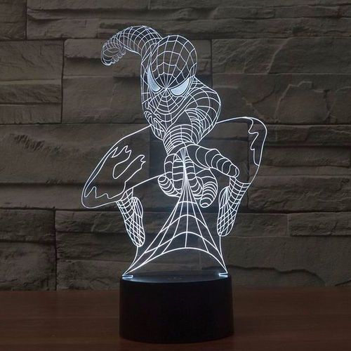 3D Spider-Man LED Desk Lamp Night Light (with Touch Switch)