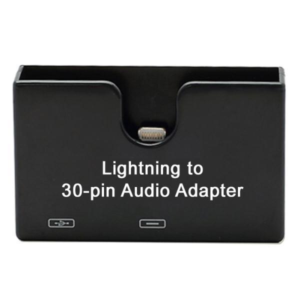 apple lightning to 30 pin audio dock black. Black Bedroom Furniture Sets. Home Design Ideas