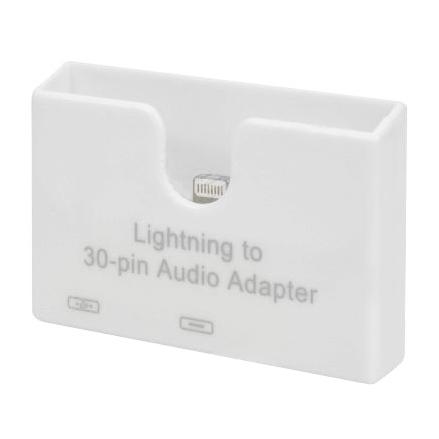 apple lightning to 30 pin audio dock white. Black Bedroom Furniture Sets. Home Design Ideas