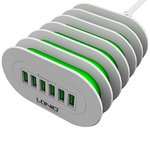 LDNIO 35W 7A 6-Port USB Desktop Charger Hub for Phones & Tablets
