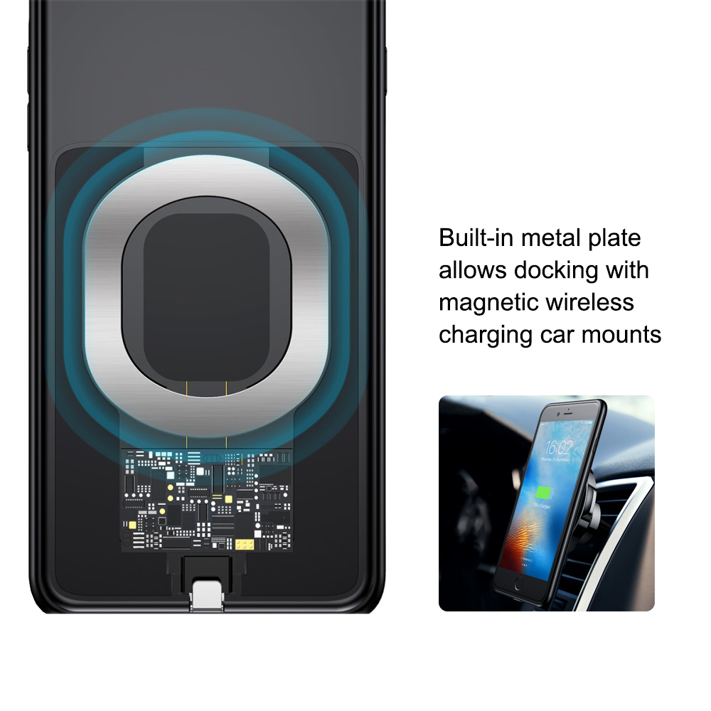 baseus magnetic wireless charging case for apple iphone 7. Black Bedroom Furniture Sets. Home Design Ideas