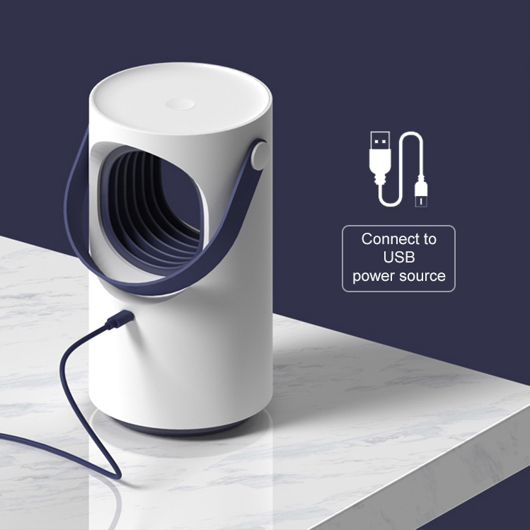 Baseus Purple Vortex LED & Silent USB Mosquito Killer Lamp - White