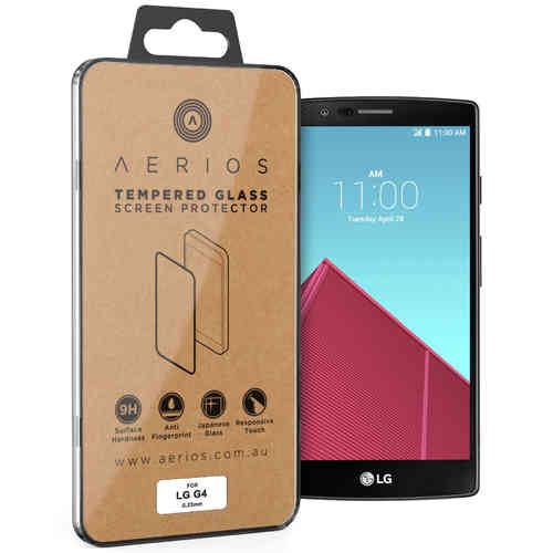 Aerios 9H Tempered Glass Screen Protector for LG G4 - Clear