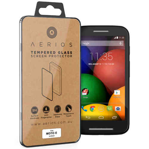 Aerios 9H Tempered Glass Screen Protector - Motorola Moto E (1st Gen)