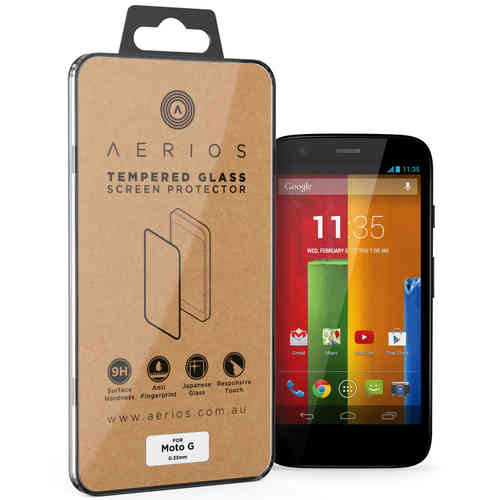 Aerios 9H Tempered Glass Screen Protector - Motorola Moto G (1st Gen)