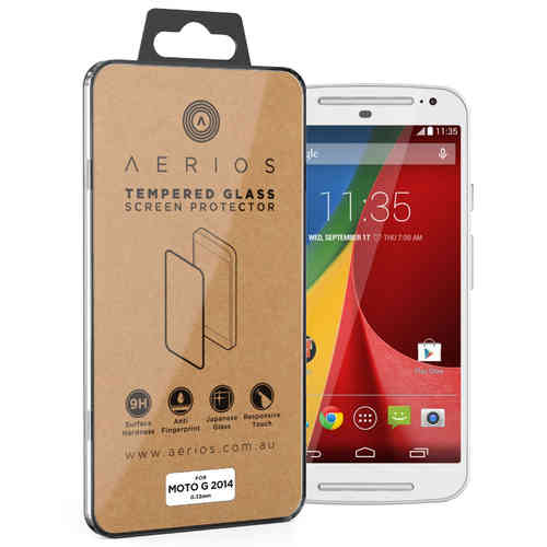 Aerios 9H Tempered Glass Screen Protector - Motorola Moto G (2nd Gen)