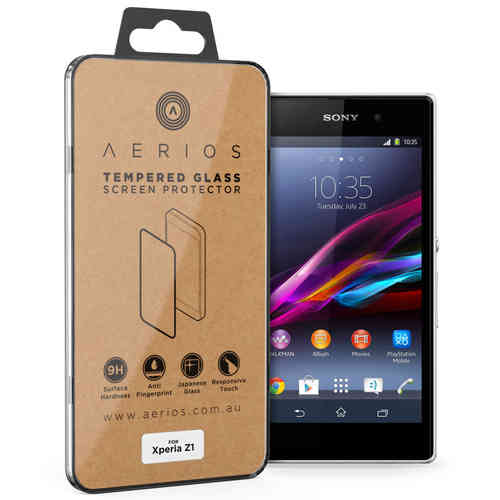 Aerios 9H Tempered Glass Screen Protector for Sony Xperia Z1 - Clear