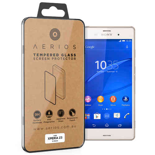 Aerios 9H Tempered Glass Screen Protector for Sony Xperia Z3 - Clear