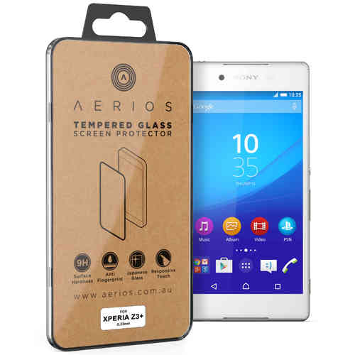 Aerios 9H Tempered Glass Screen Protector for Sony Xperia Z3 Plus / Z4