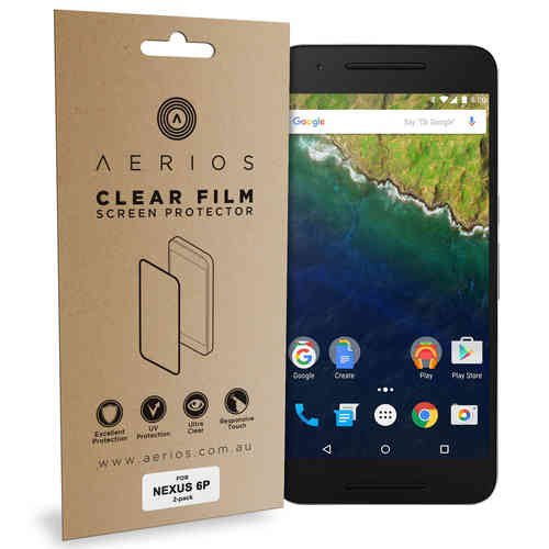 Aerios (2-Pack) Clear Film Screen Protector for Google Nexus 6P