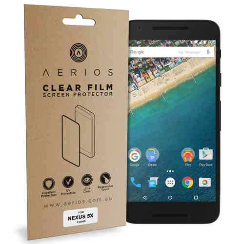 Aerios (4-Pack) Clear Film Screen Protector for Google Nexus 5X