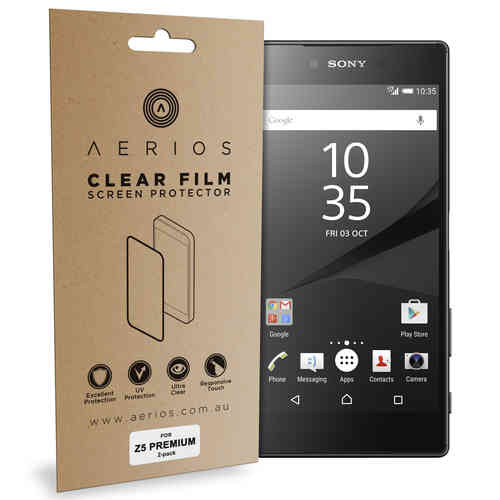 Aerios (2-Pack) Clear Film Screen Protector for Sony Xperia Z5 Premium