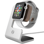 Aerios Moduul Desktop Docking Stand for Apple Watch - Silver (Walnut)