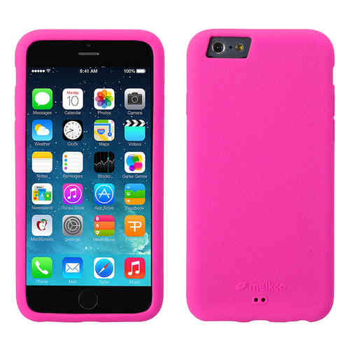Melkco Silikonovy Case & Wrist Strap for Apple iPhone 6 / 6s - Pink